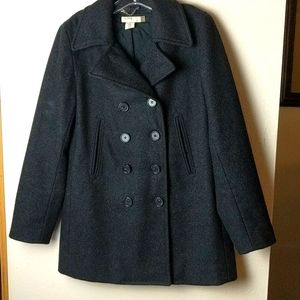 J.Crew black peacoat military size small